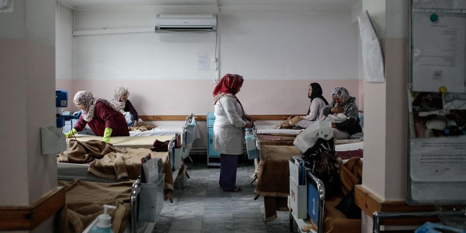 達什特巴爾齊醫院的產後恢復室,攝於2019年12月。©Sandra Calligaro