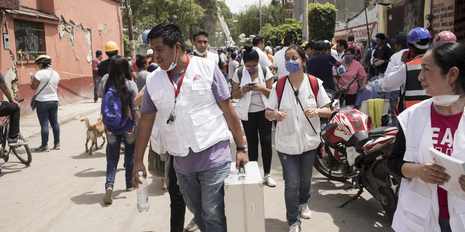 無國界醫生心理團隊抵達墨西哥城。© Jordi Ruiz Cirera