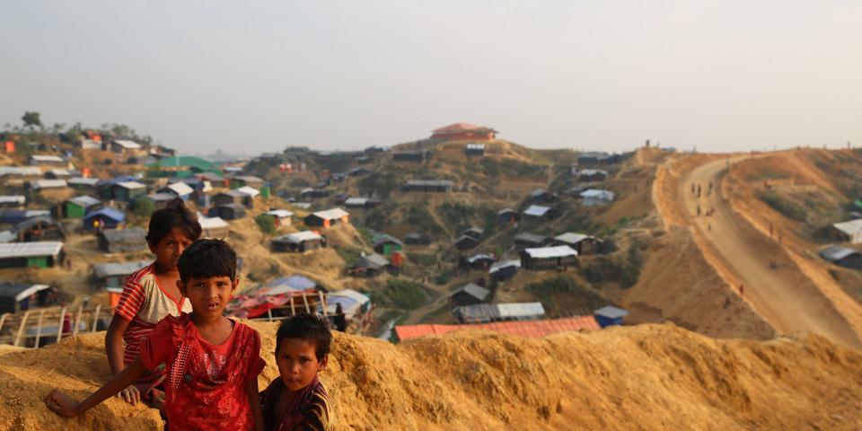 住在孟加拉難民營中的羅興亞兒童生活環境非常嚴峻。©Mohammad Ghannam/MSF