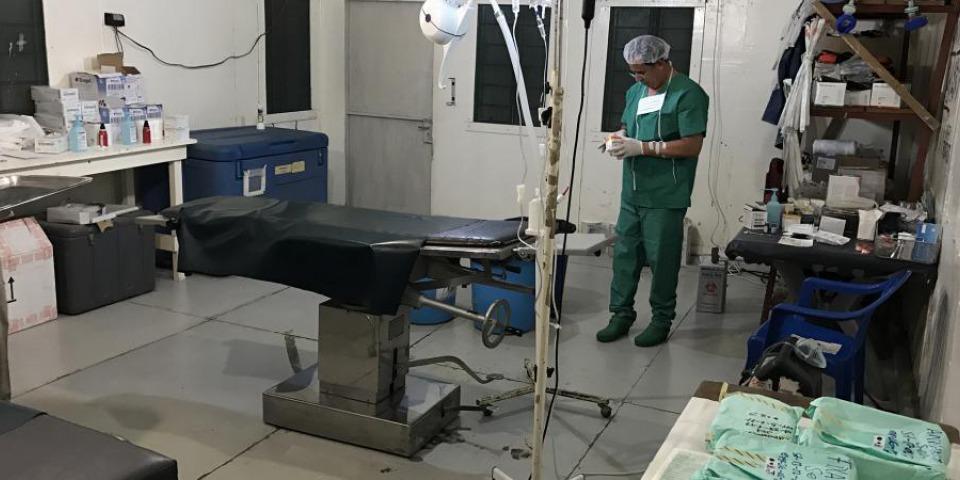 改裝完成的手術室配備手術室基本儀器及用品,應急作為搶救危急傷者之用。© Akin Chan