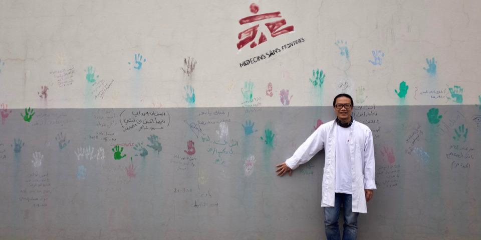 許彥鈞醫生在伊拉克摩蘇爾。