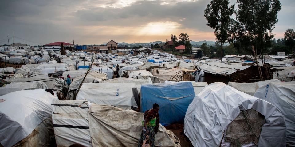 在布尼亞,國內流離失所者營地的日常景象。伊圖里省社區間的暴力衝突導致數千人逃離家園。©Pablo Garrigos/MSF