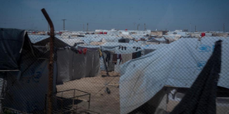 敘利亞東北部霍爾(Al-Hol)境內流民營地,攝於2020年3月。© Ricardo Garcia Vilanova