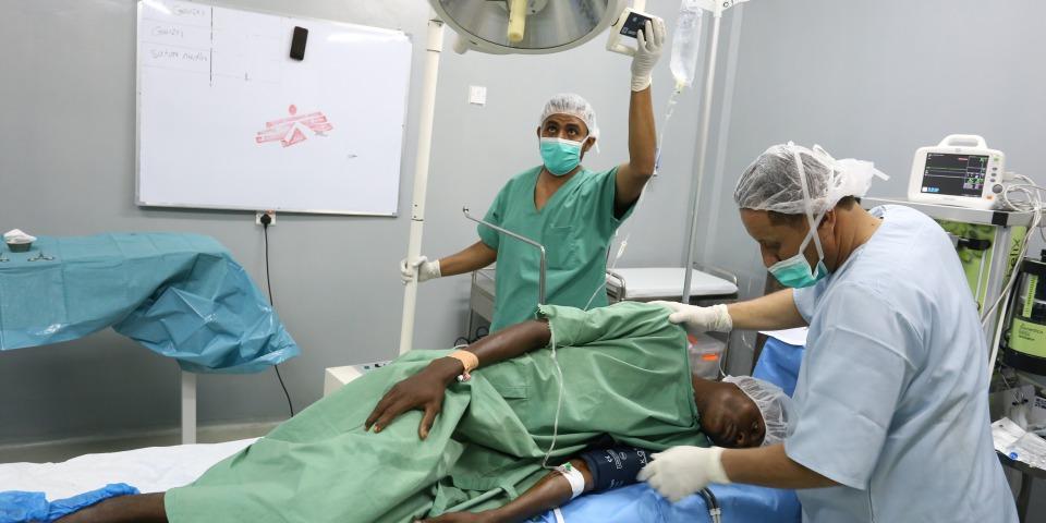圖為位於哈佳省的阿卜斯鄉村醫院的手術室。© Redhwan Aqlan/MSF