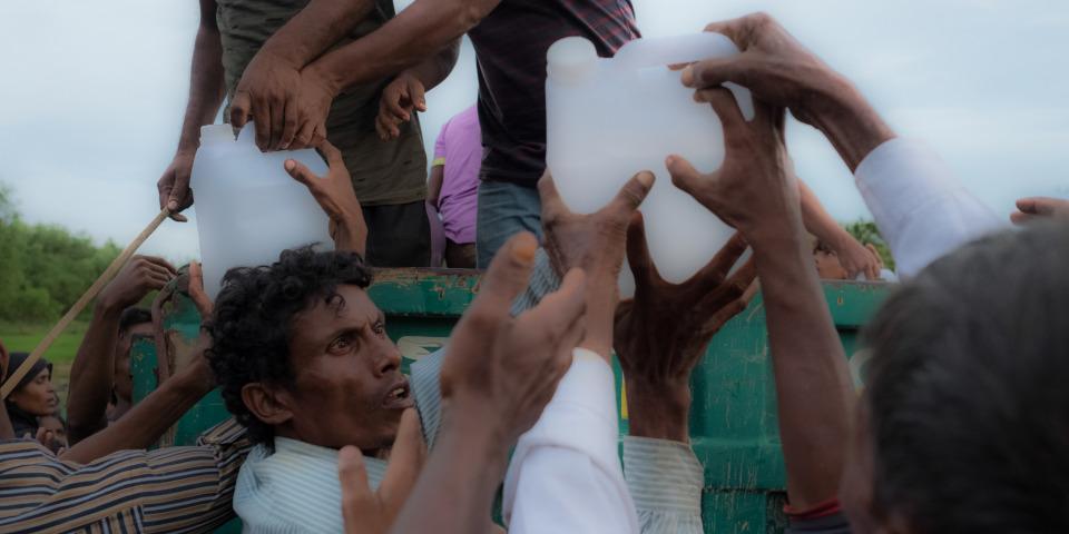 乾淨的飲用水供應是難民目前的迫切需要之一 。© Antonio Faccilongo