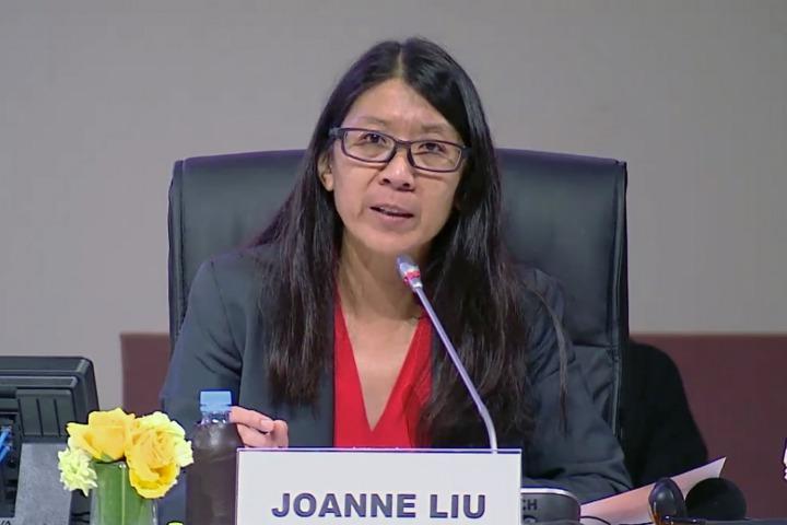 無國界醫生國際主席廖滿嫦12月11日於「全球移民契約會議」上演講。