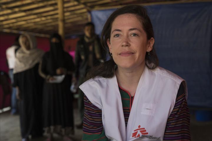 無國界醫生在孟加拉的緊急項目統籌諾蘭(Kate Nolan) ©Anna Surinyach