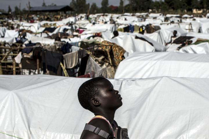 無國界醫生支援的營地,約有 2,000名流離失所者。©John Wessels