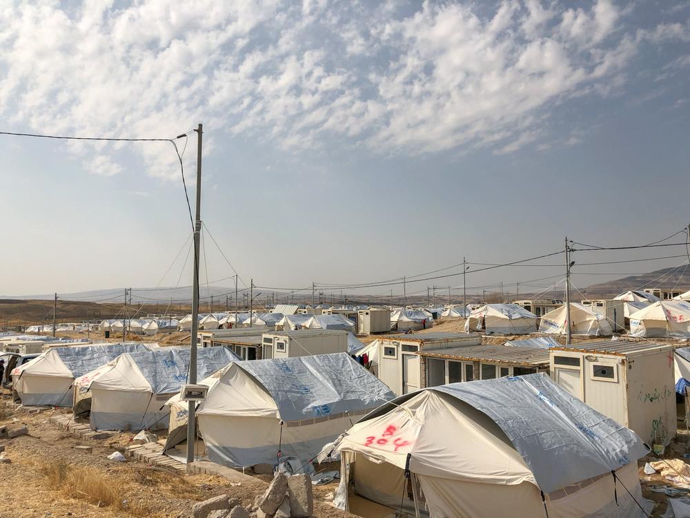 無國界醫生巴爾達拉什營地為從敘利亞東北部逃至當地的人們,提供精神健康評估。© MSF/Hassan Kamal Al-Deen