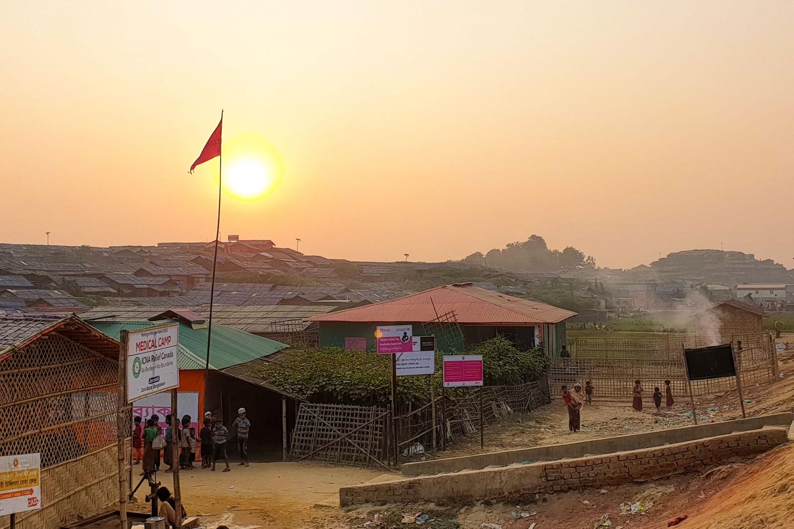 賈姆托利營區美麗的日落,讓我們在忙碌的一天後得到平靜。©MSF
