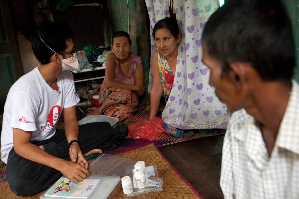 緬甸的愛滋病和結核病治療計畫。