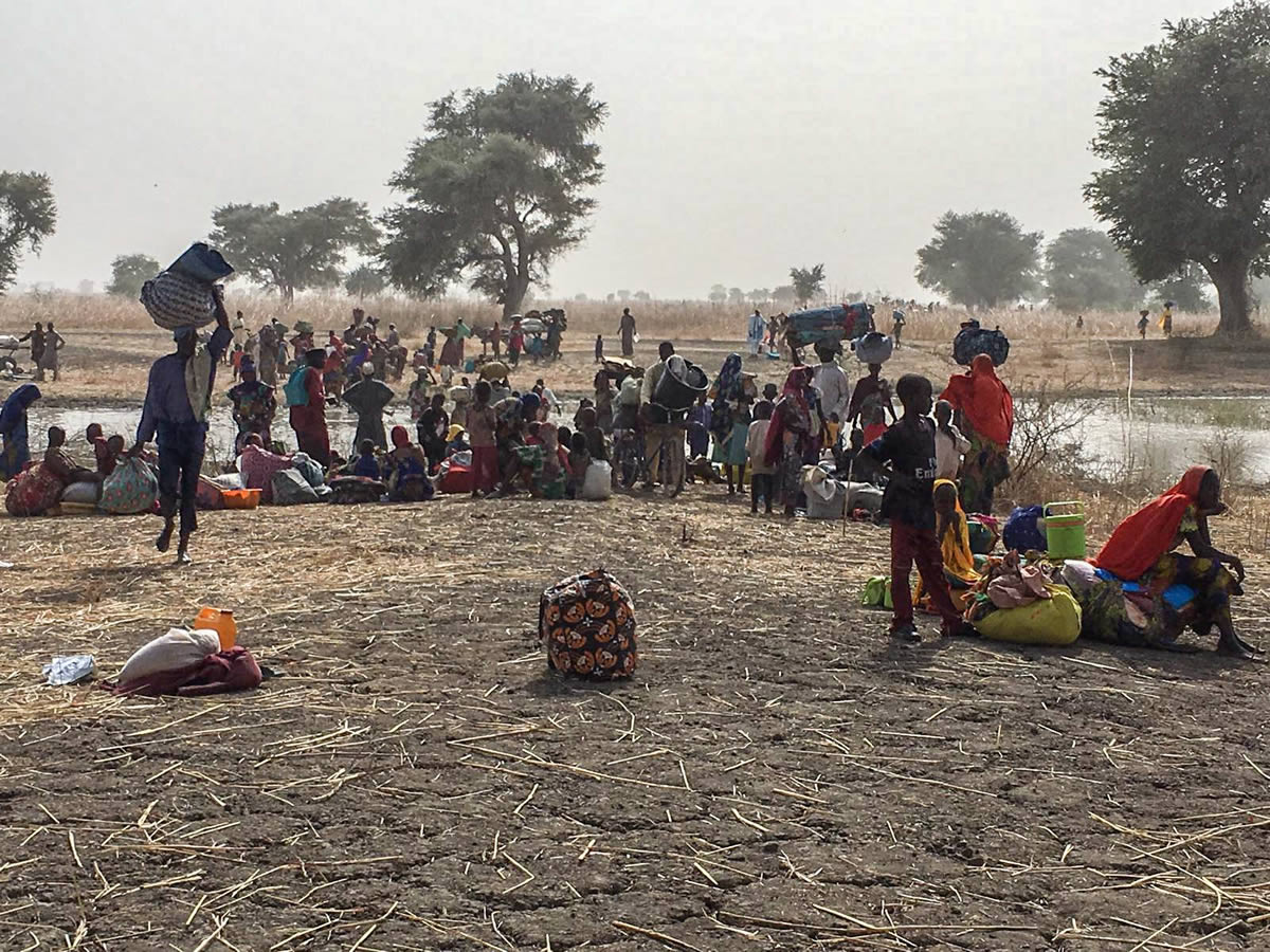 萊恩居民逃到喀麥隆博杜尋求安身之所。