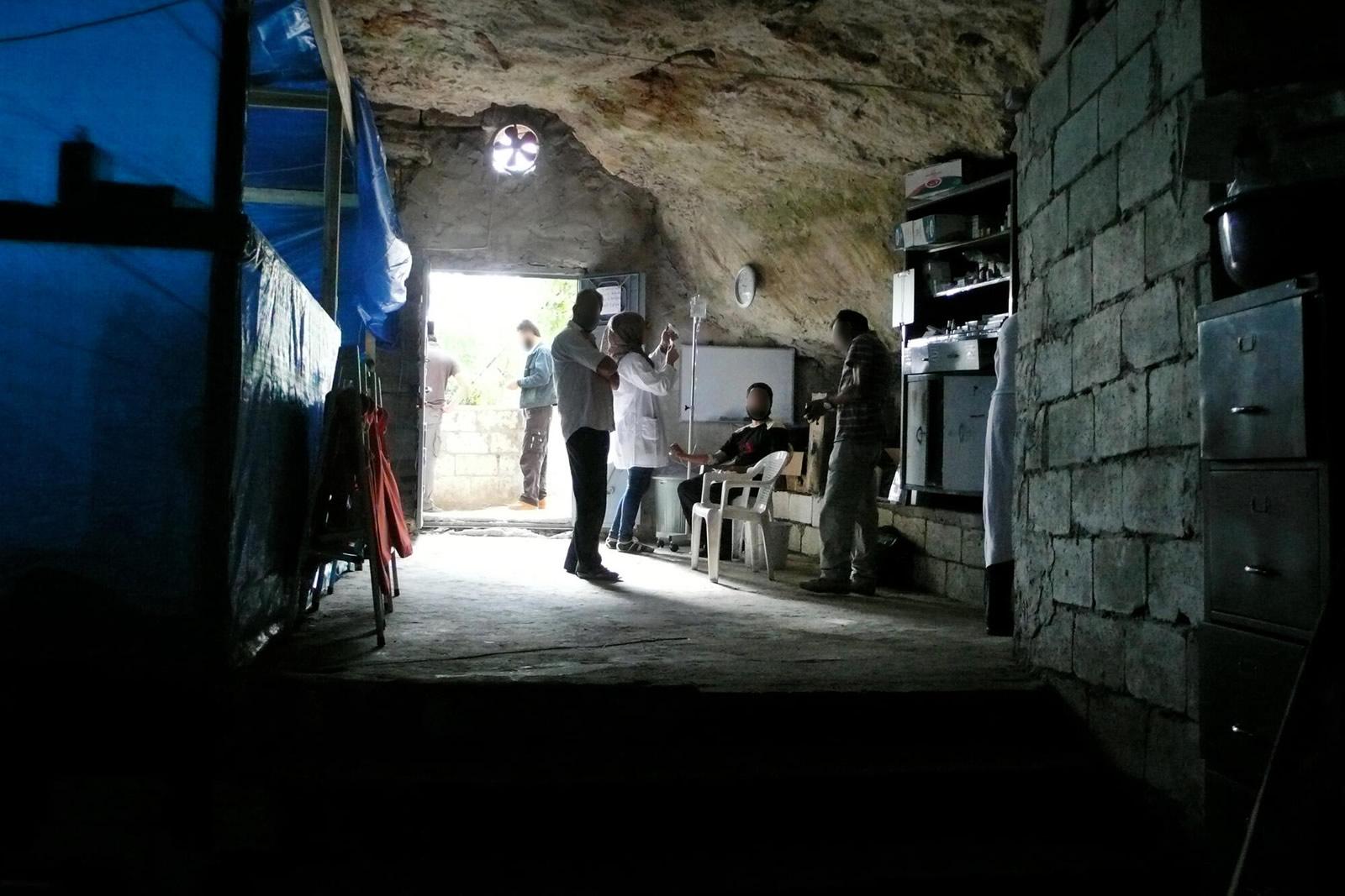 敘利亞,洞穴改建成醫院