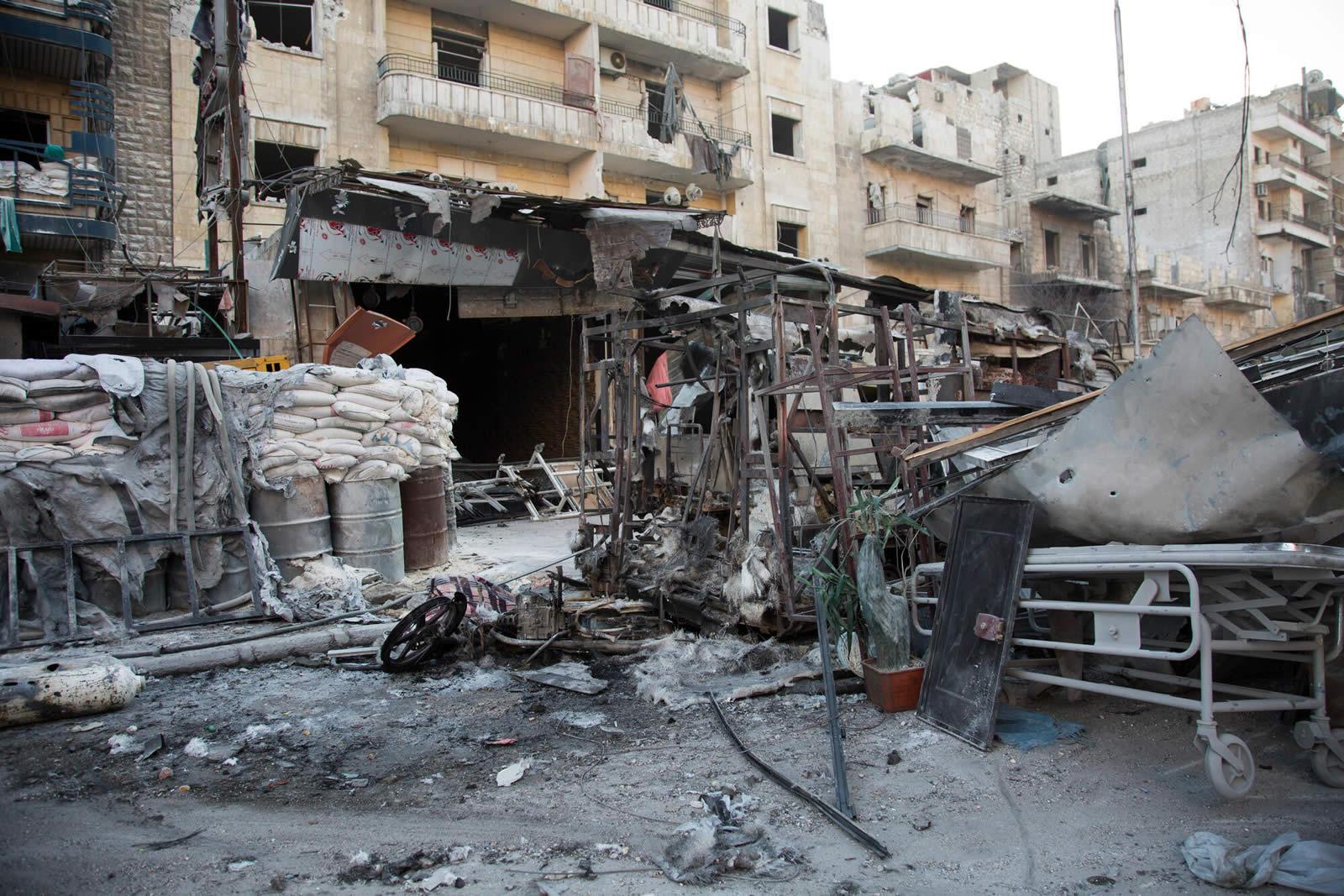 敘利亞遭受空襲的醫院