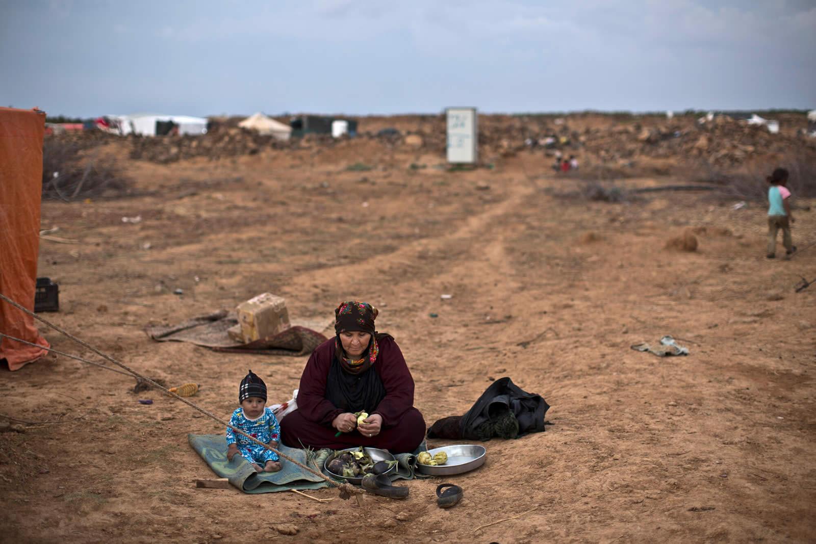 被困在邊境的敘利亞難民