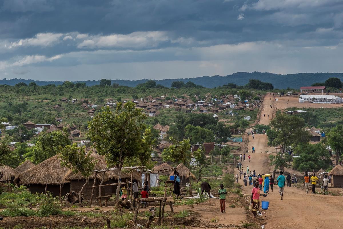 比迪比迪難民安置區在2016年8月啟用,為免過於擠迫,安置區已停止接收新難民。© Frederic NOY/COSMOS