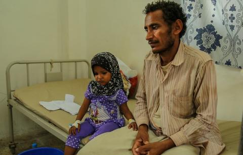 穆罕默德一家靠收割卡特葉(qat)維生,但戰事令他們難以維持生計。© MSF